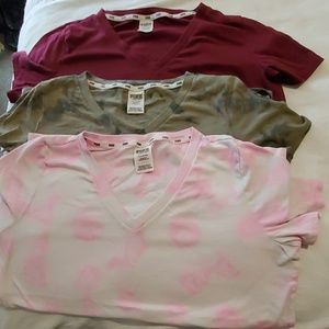 Lot of 3 Vneck Ts by Pink